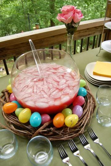 Punch Nest with Eggs – shared by Very Vegan Holiday