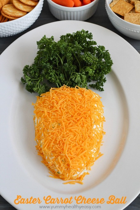 Easter Carrot Cheese Ball - shared on Yummy Healthy Easy