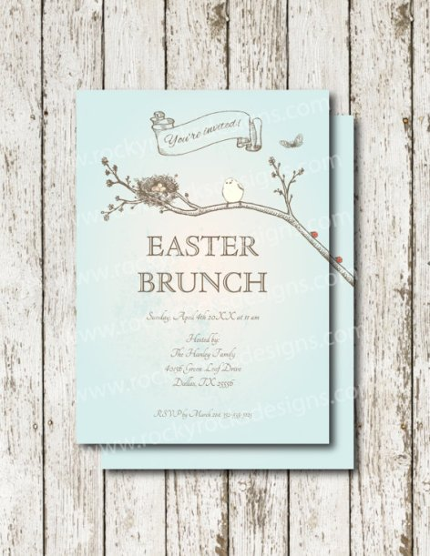 Easter Brunch Printable Invitation – made by RockyRocksDesigns on Etsy