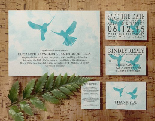 Vintage Blue Printable Invitations – sold by InvitationSnob on Etsy