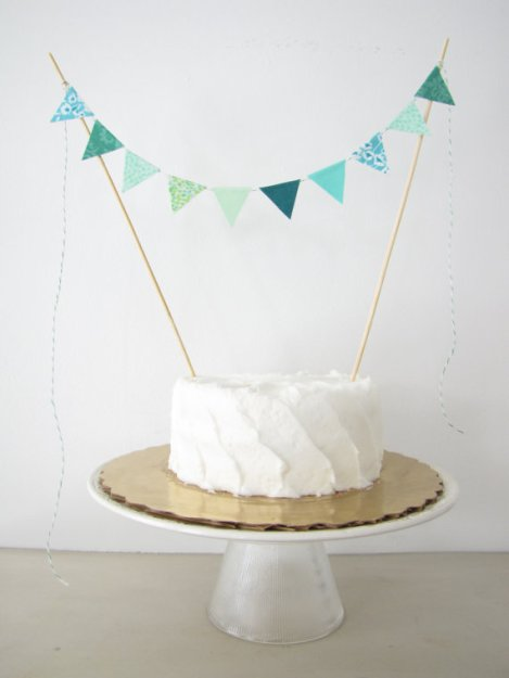 Emerald Forest Wedding Cake Topper Bunting – made by AthenaandEugenia on Etsy