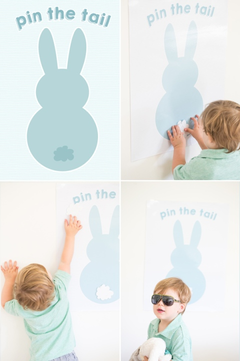 Pin the Tail on the Easter Bunny Printable – shared on Sugar and Charm