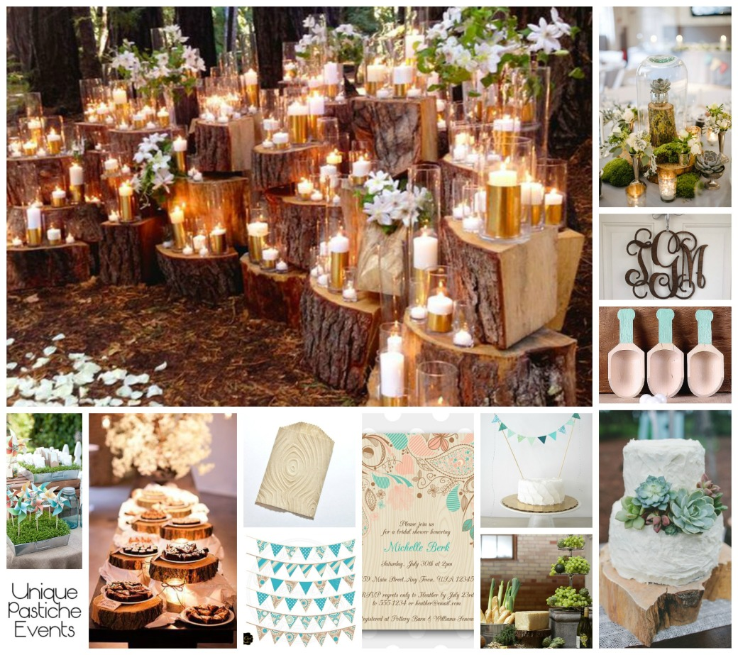 Wood Grain Spring Wedding Ideas by Unique Pastiche Events