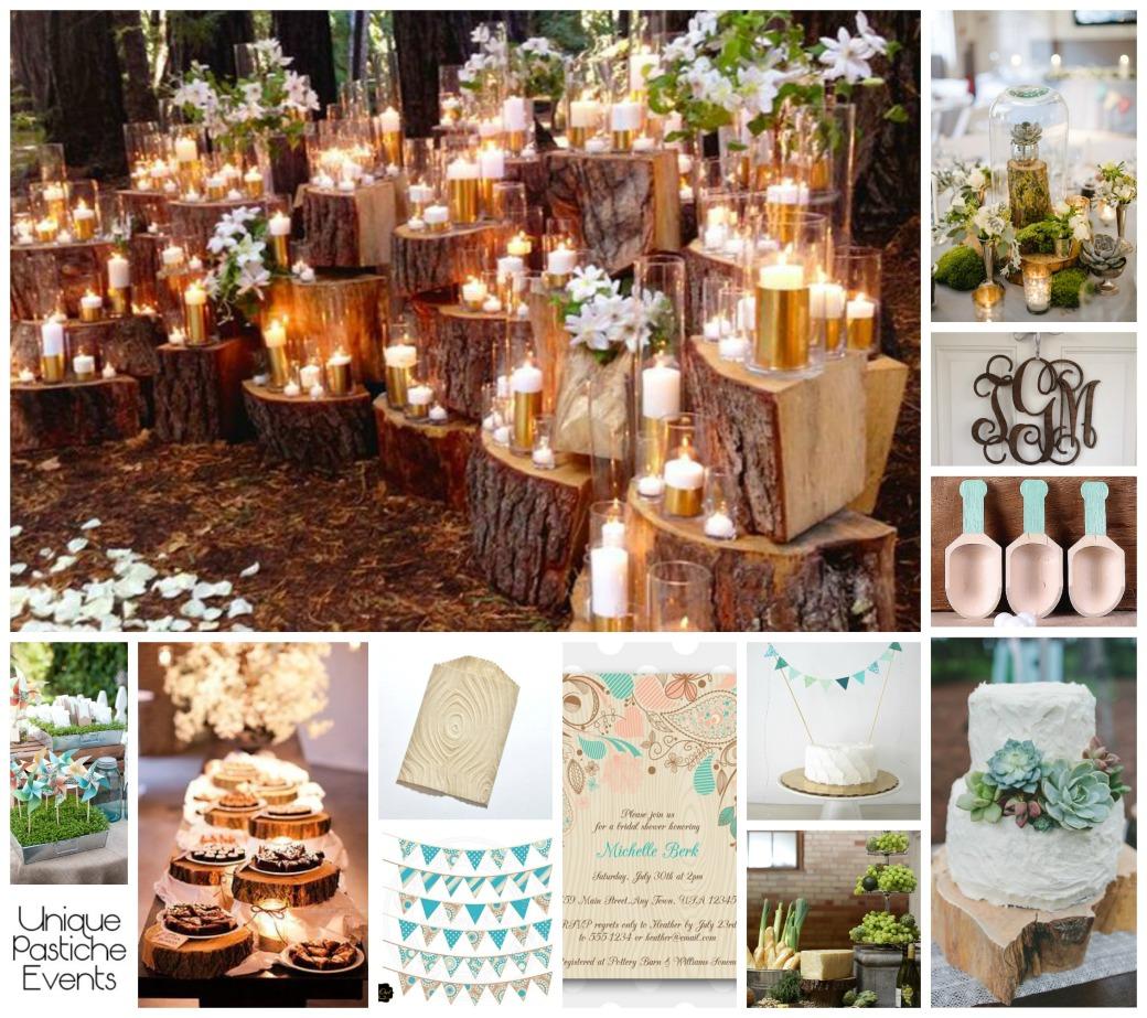 Wood Grain Spring Wedding Ideas by Unique Pastiche Events