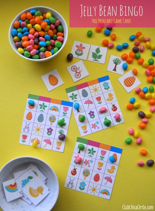 Jelly Bean Bingo – shared on Club Chica Circle
