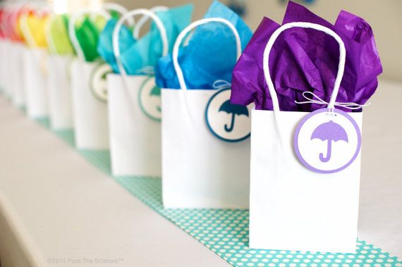 Rainbow Baby Shower Party Favor Tags Made By Sparkanddelight On