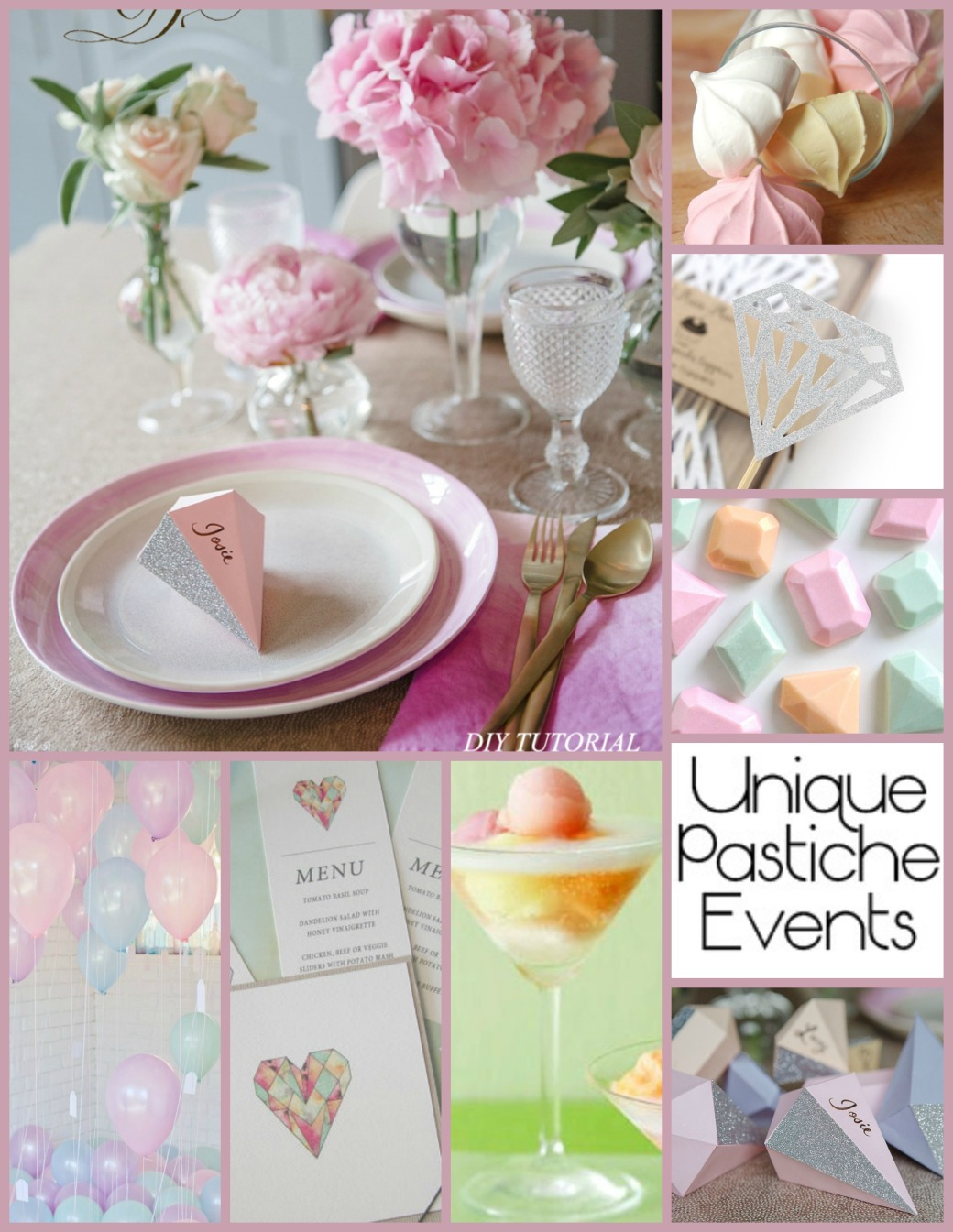 Pastels and Jewels - Girly Birthday Party Ideas