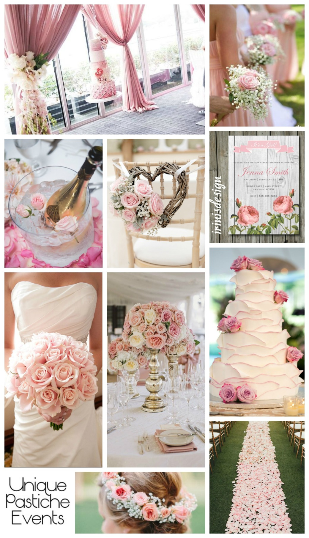 Shabby Chic & Light Pink Rose – Spring Wedding Inspiration