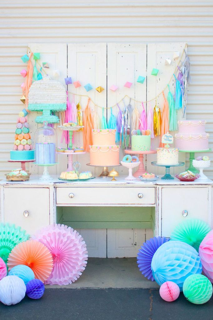 Pastel Cake And Dessert Tablescape U2013 Shared By Paper Fox LA On Project  Nursery