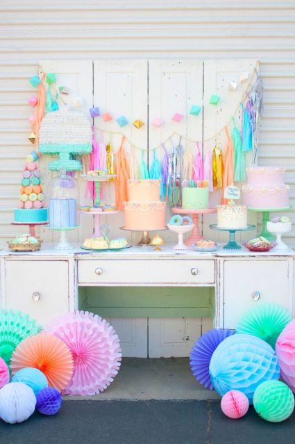Pastel Cake and Dessert Tablescape – shared by Paper Fox LA on Project Nursery