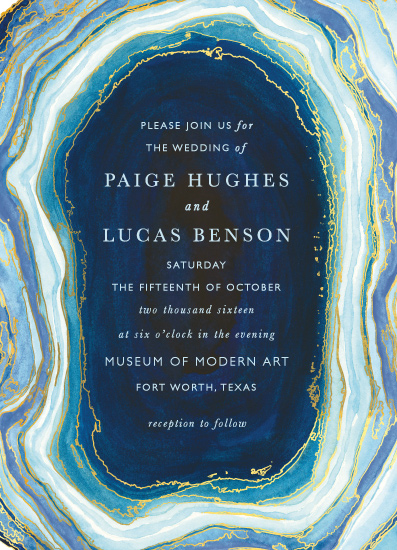 Gilt Agate Invitation – shared by Kaydi Bishop on Minted
