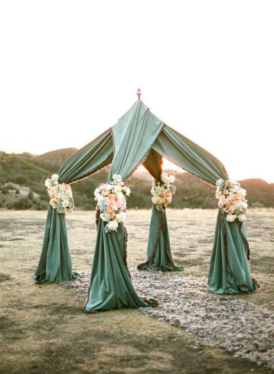 Green and Floral Tent – shared by Aaron Delesie on Style Me Pretty
