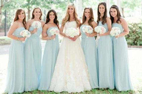 Beautiful Blue Bridesmaid Dresses – shared by Jennifer Wilson