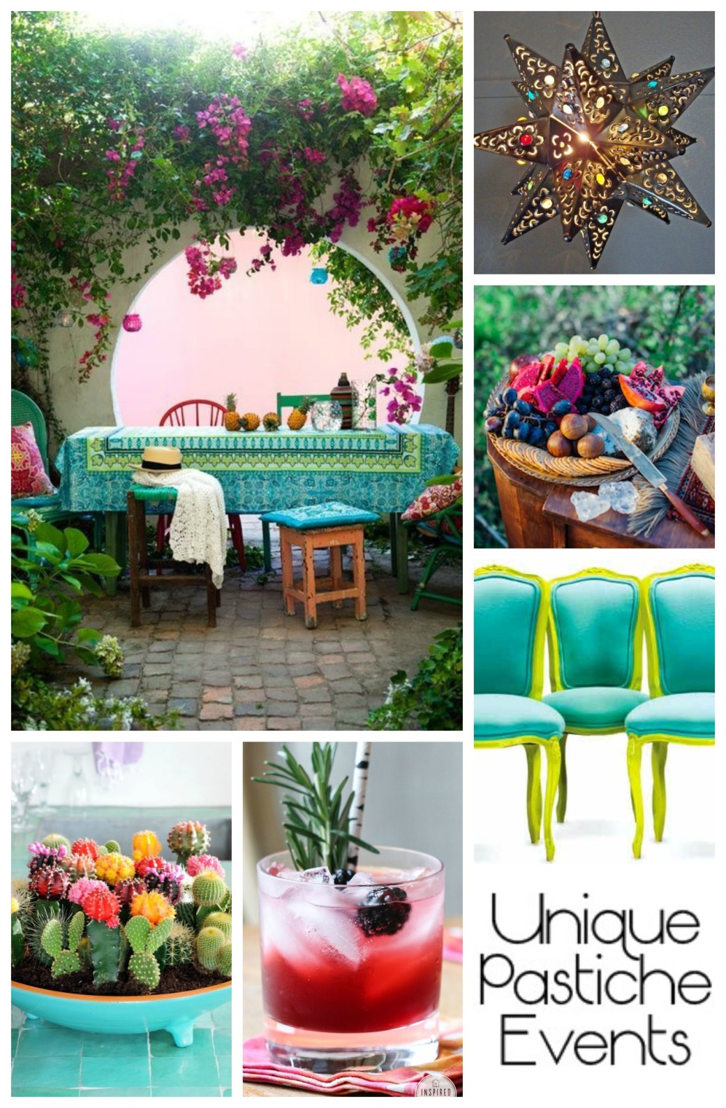 Bohemian Patio Party Ideas Enjoy the full post: https://uniquepasticheevents.com/2015/05/20/bohemian-patio-party-ideas/