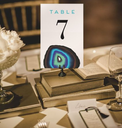 Printable Agate Blue Wedding Table Numbers – made by RigbyAndFable On Etsy