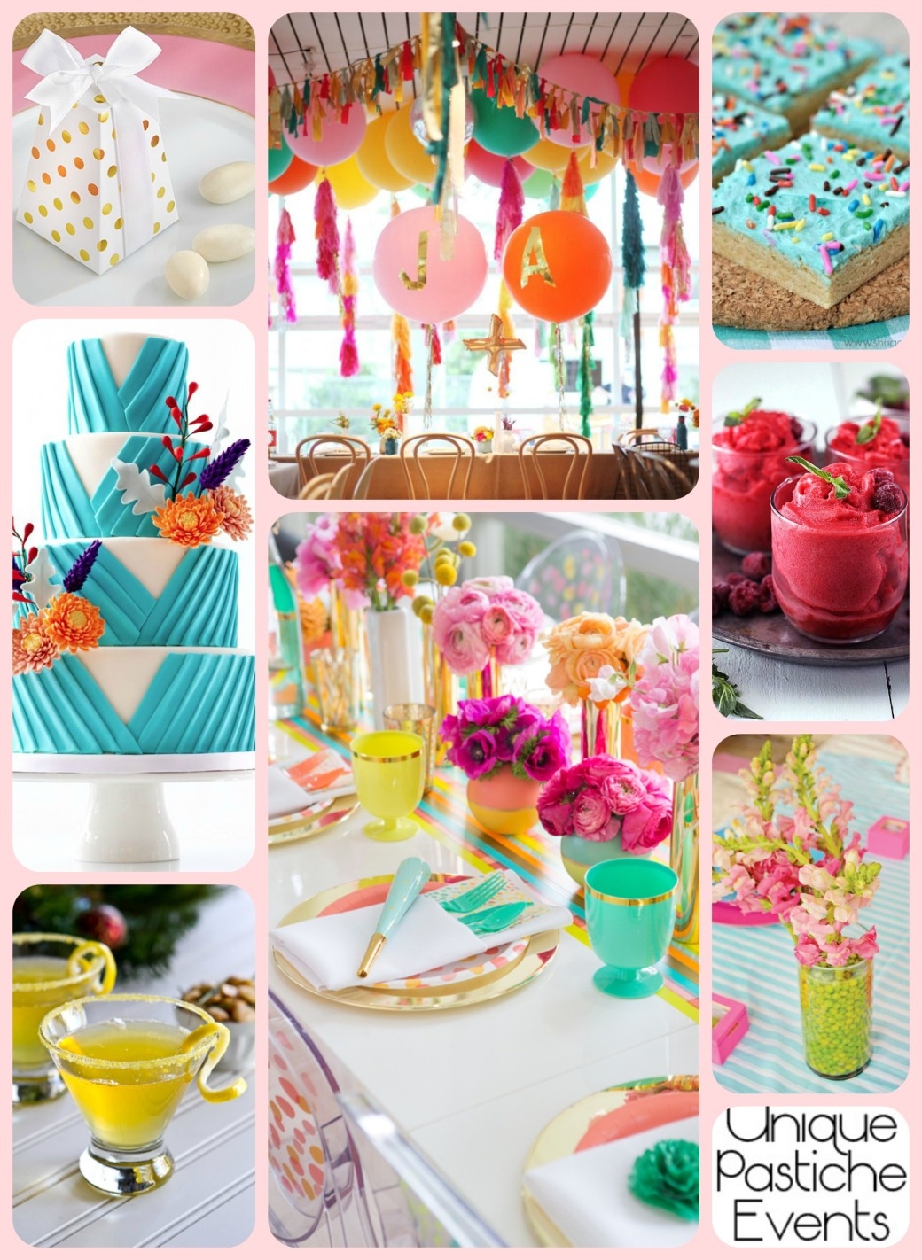 Vibrant Summer Birthday Party Idea for Her Enjoy the full post here: https://uniquepasticheevents.com/2015/05/27/vibrant-summer-birthday-party-idea-for-her/