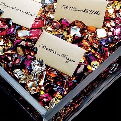 Gem Escort Card Tray – shared in a roundup post on Tied Bow Inspiration