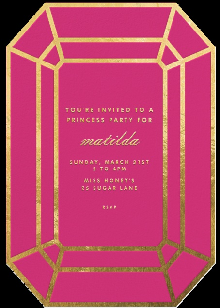Pink Gem Invitation – sold on Paperless Post