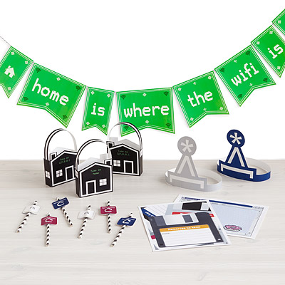 Printable Party Kit – Computer Geek – sold on UncommonGoods
