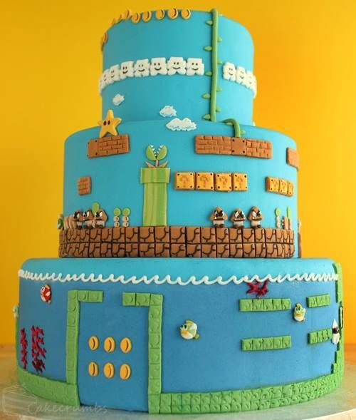 Mario Tiered Gamer Cake – spotted on Pinterest