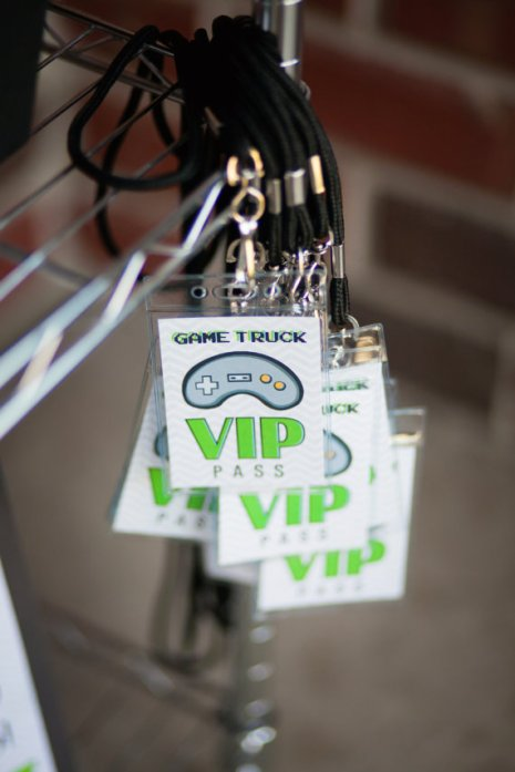 Personalized Video Game Truck Party Printable VIP Passes – made by HHpaperCo on Etsy