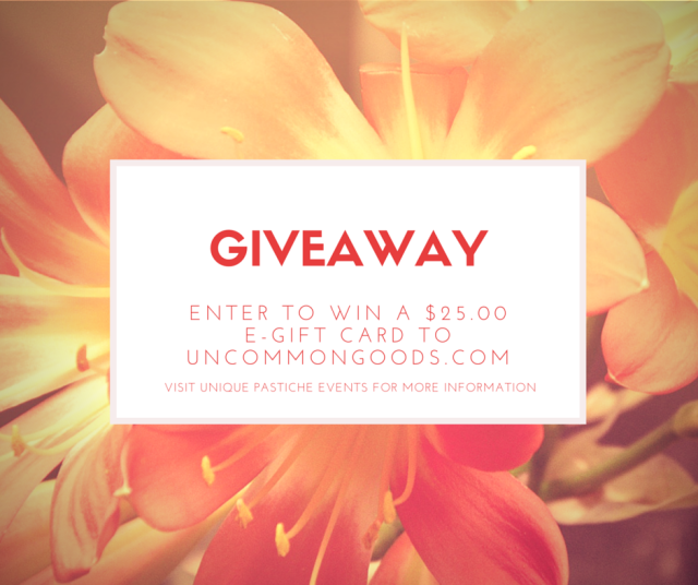 UncommonGoods Giveaway hosted on Unique Pastiche Events