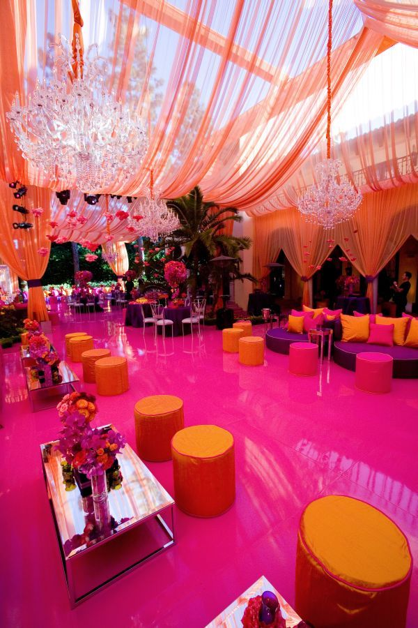 Hot Pink And Orange Summer Wedding Ideas Unique Pastiche Events
