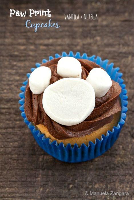 Paw Print Cupcakes – recipe shared by Manu's Menu