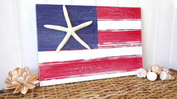 Nautical Starfish Beach Sign – made by MeetMeByeTheSea on Etsy