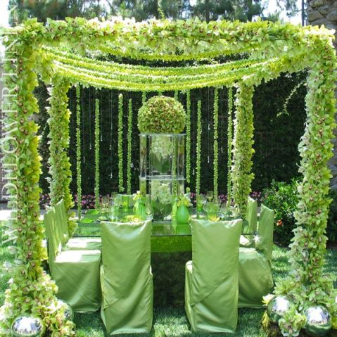 Luxurious Green Tablescape – shared on Wildflower Linen