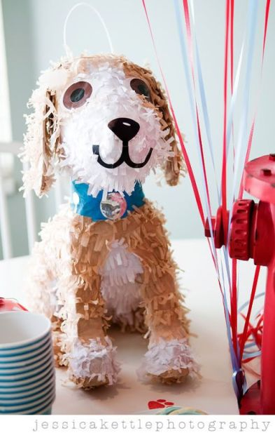 Puppy Piñata – shared by Kara of Kara's Party Ideas