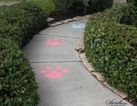 Paw Print Walkway Tracks – shared by Swish Printable Parties