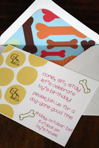 Puppy Party Invitation – shared on the Patten Family Blog