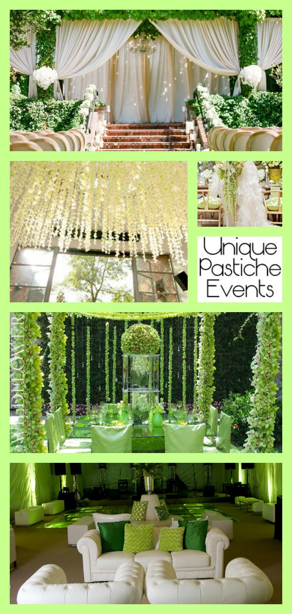 Extravagant Summer Wedding in Green Florals Get all the details for this wedding inspiration board: https://uniquepasticheevents.com/2015/07/08/extravagant-summer-wedding-in-green-florals/