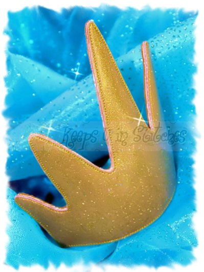 King Triton inspired Gold Crown – made by KeepsUInStitches on Etsy