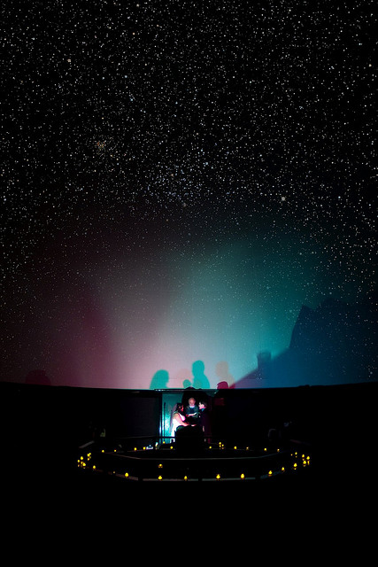 Planetarium Wedding Alter – featured on The Offbeat Bride
