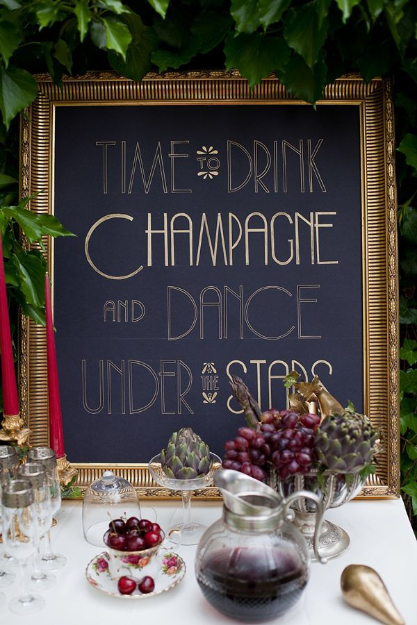 Time to Drink Champagne and Dance Under the Stars Poster – shared on Love My Dress