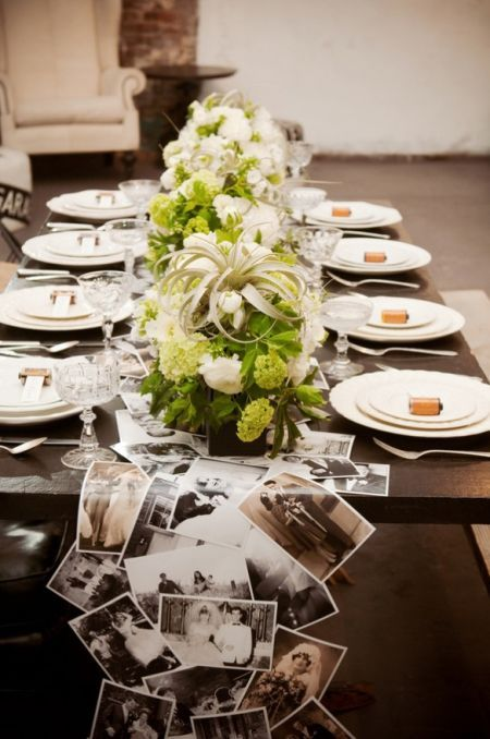 Photograph Tablescape and Centerpiece – shared on Ruffled