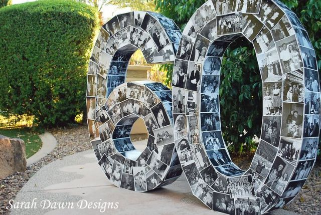60th Black and White Photo Birthday Numbers – shared by Sarah Dawn Designs