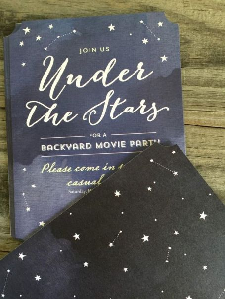 Under the Stars Backyard Invitation – spotted on Pinterest here