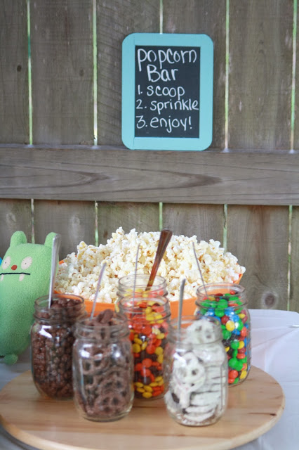 Popcorn Bar – shared by Supermom vs. Me