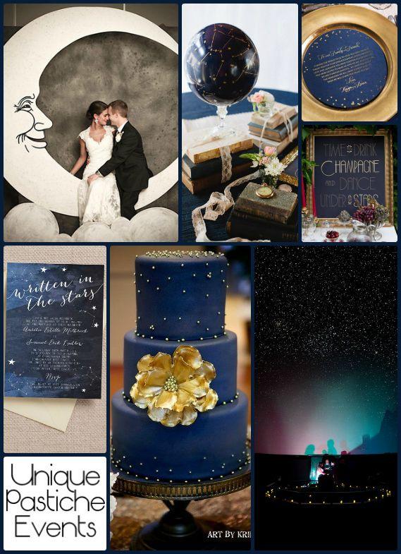 Midnight Blue Wedding Centerpiece