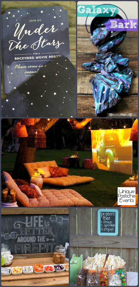 Under the Stars – Backyard Movie Party Ideas