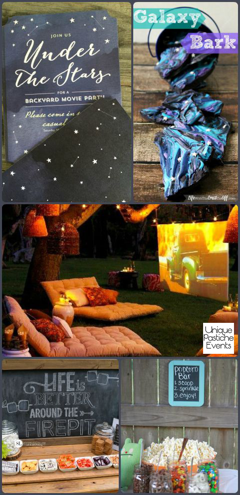 Under the Stars – Backyard Movie Party Ideas