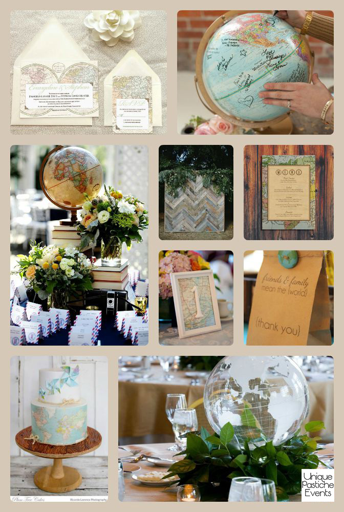 Vintage Travel Inspired Wedding Idea Board