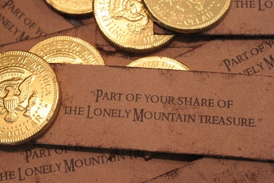 Gold Coin Treasure Favor – shared on Mommy's Little Peanuts