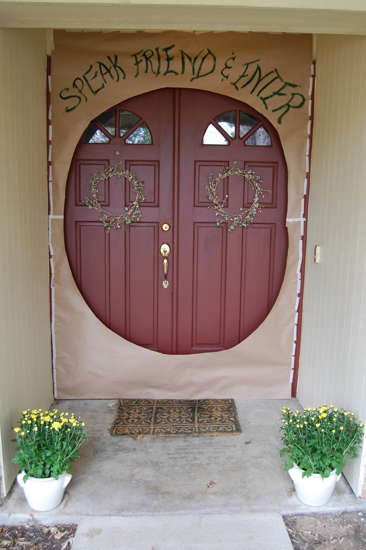 Speak Friend and Enter Door Décor – shared on India Loves Texas