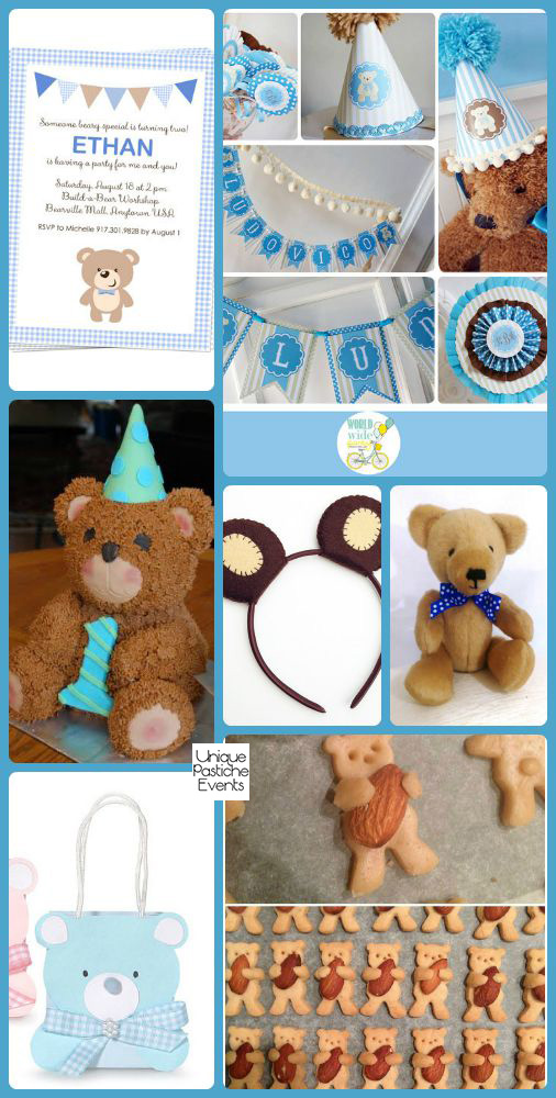 Birthday Bear Picnic Ideas for National Teddy Bear Day Get the full set of party details: uniquepasticheevents.com/2015/09/09/birthday-bear-picnic-ideas-for-national-teddy-bear-day/