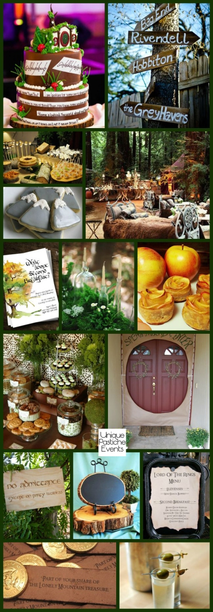 Hobbit Day Woodland Party Ideas by Unique Pastiche Events - learn more about this inspiration board: https://uniquepasticheevents.com/2015/09/23/hobbit-day-woodland-party-ideas/