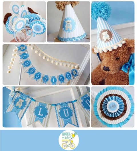 Vintage Teddy Bear Party Printable Kit – created and sold by worldwideparty on Etsy